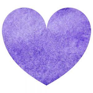 Watercolor purple heart